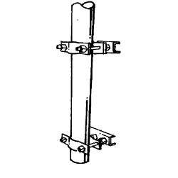 Universal clamp set, pole, UPS