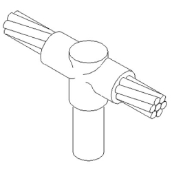 Cable to Ground Rod, #2 Solid to 5/8