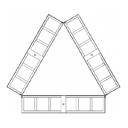 Non-Penetrating Roof Tripod Sled