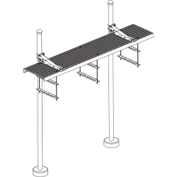 Two Post Saftey Grated Bridge Kit, Shoe Posts