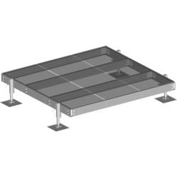 10'x10' Equipment Platform with 4 adjustable legs