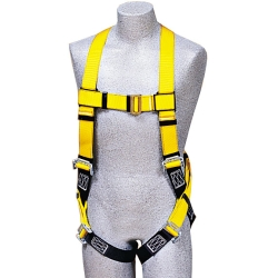 Back D-Ring Vest Harness, 1 D, Universal size