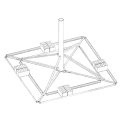 Rohn Products Llc Brm42510 Ballast Roof Mount 120 Quot Tessco