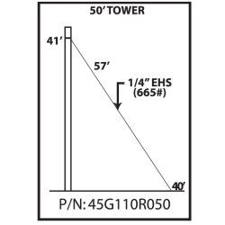 45G 50-ft Guyed Tower Kit
