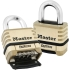 "Lock,4-Digit Combo 1-1/16"" Shackle; brass body"