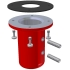Red Collar Mount for GPS Timing Antennas