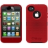Defender Case for Apple iPhone 4S in Black/Red