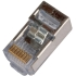 8cond RJ-45 Conn for Round Shielded Solid CAT5
