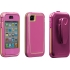 Phantom Case for Apple iPhone 4S in Raspberry/Lime