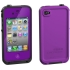 Waterproof Case for Apple iPhone 4S in Purple