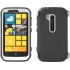 Defender Case for Nokia Lumia 822 in Gray/White