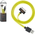 chargesync Cable (USB A to MFI Connector), Yel/Grn