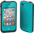 Waterproof Case for Apple iPhone 4S in Teal