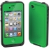 Waterproof Case for Apple iPhone 4S in Green