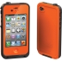 Waterproof Case for Apple iPhone 4S in Orange