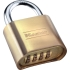 "Lock,4-Digit Combo Padlock 1"" Shackle"
