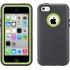 Defender Case, Apple iPhone 5c in Gray/Neon Green