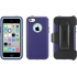 Defender Case, iPhone 5c, Violet Purple/Aqua Blue