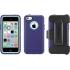 Defender Case, iPhone 5c, Violet Purple/Aqua Blue