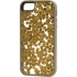 Stripped Case for Apple iPhone 5s/5, Gold Flakes.