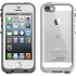 n��d Case for Apple iPhone 5c. White/Clear