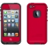 fre Waterproof Case,Apple iPhone 5s, Red/Black
