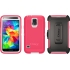 Defender Case for Samsung Galaxy S 5 in Neon Rose