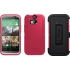 Defender Case for HTC One (M8) in Neon Rose