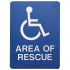 Self-Adhesive ADA Braille Area of Rescue Sign