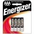 EVEREADY Energizer Alkaline AAA Batteries 4 Pack
