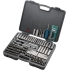 Socket Set,107 piece,1/4,3/8,1/2 drives,SAE/Metric